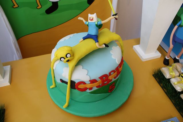Cool cake at an Adventure Time party!  See more party ideas at CatchMyParty.com!  #partyideas #adventuretime