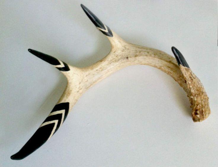 Hand Painted Naturally Shed Deer Antler Home Decor Deer