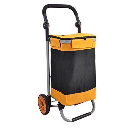 00615ec32ed5 KTYX Steel Pipe Folding Shopping Cart 17CM Bearing Wheel Shopping ...