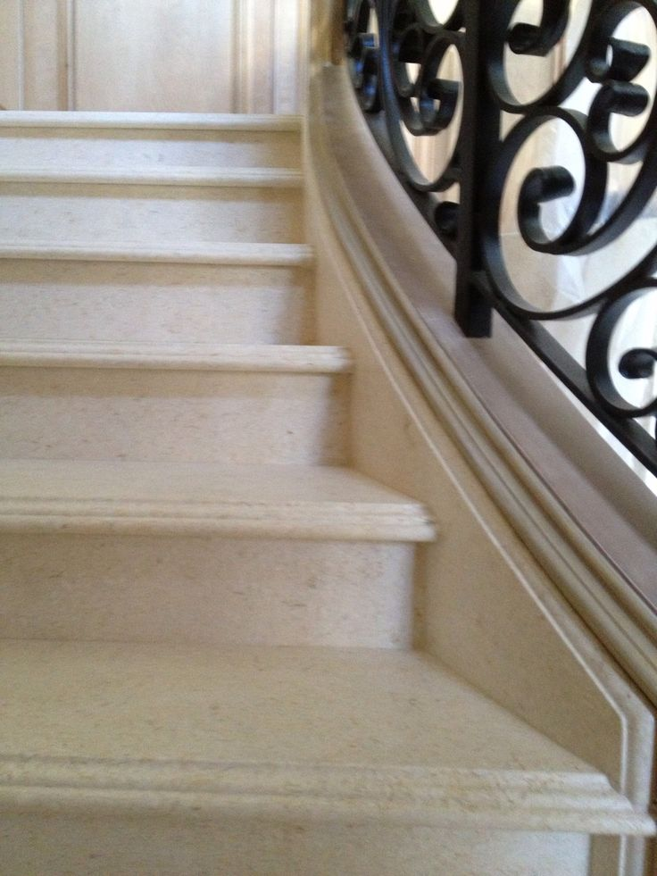 Best Limestone Staircase With Detail Edge Side Rail Is Molded 400 x 300