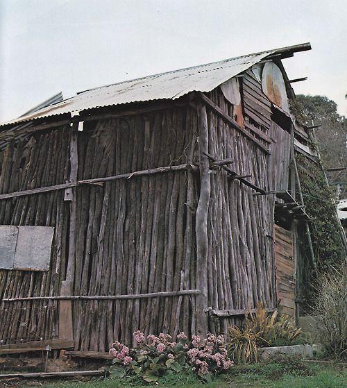 A gold miner's hut in Maldon, Victoria, Historic...
