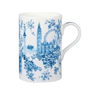 blue mug, toile de jouy style, uk