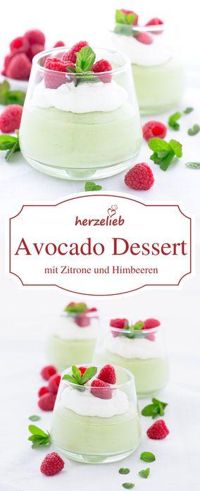 Avocado Dessert Rezept - so herrlich erfrischen und einfach zuzubereiten. Rezept vom Foodblog herzelieb.