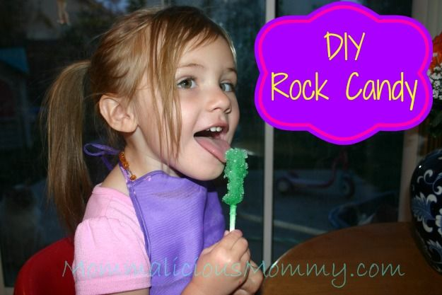 DIY Rock Candy - Easy to make and just 2 ingredients!  Pin it now to do later :)
