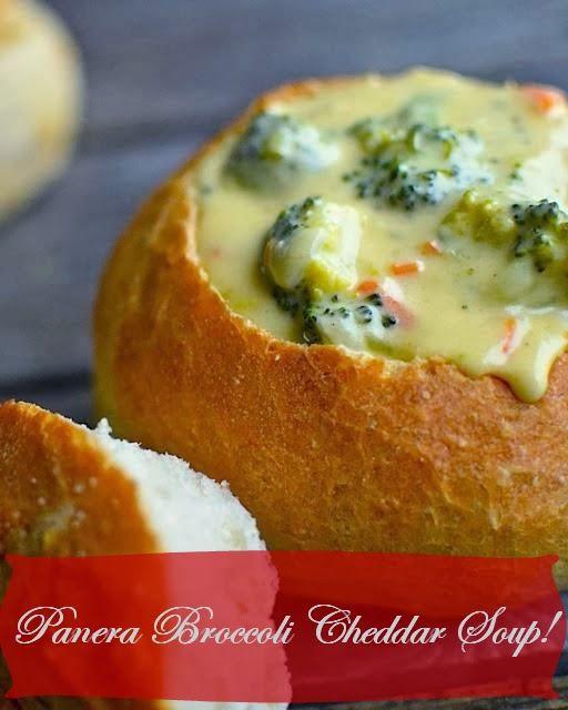 Bon Appetito!: Panera Broccoli Cheddar Soup Recipe!