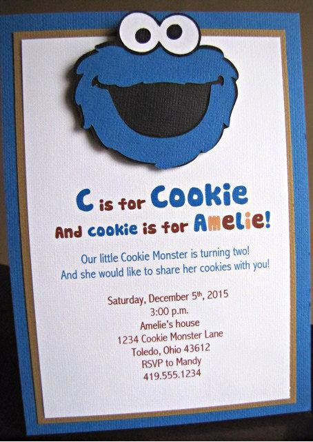 Cookie Monster Birthday Party Package 1st