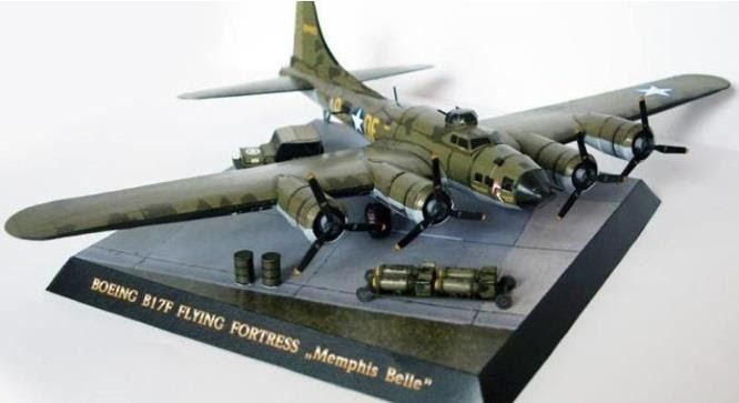 Created by Czech designer and modeler Michal Tichý,  from PR Models website,  this is the paper model version  of the Boeing  B-17 Flying F...