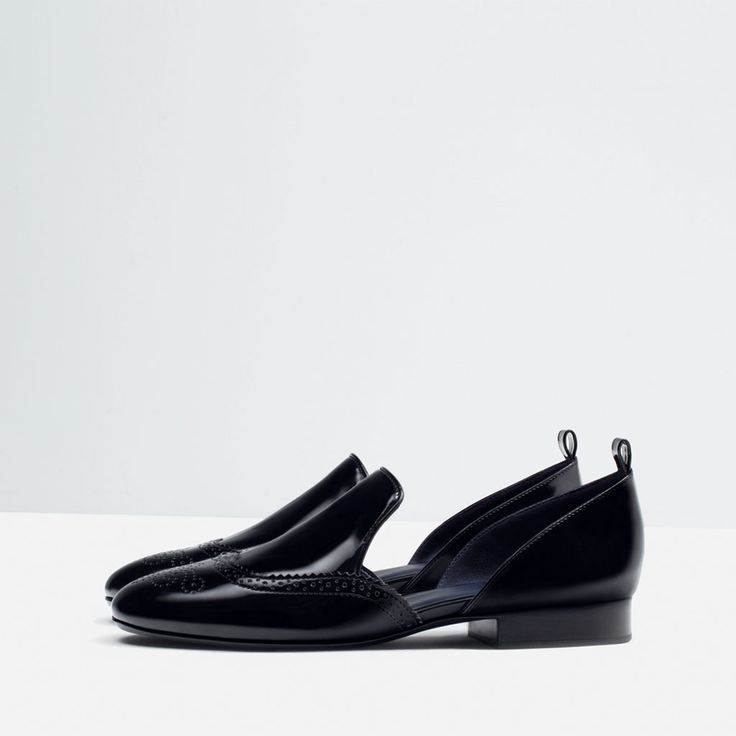 image 1 of flat shoes with openings from zara shoes