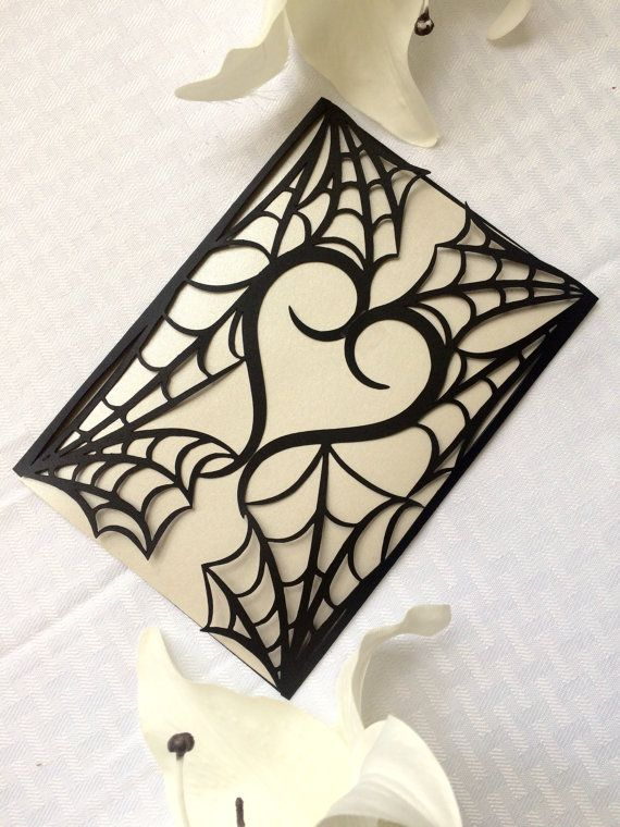gothic spider web halloween wedding by ShimmeringCeremony on Etsy