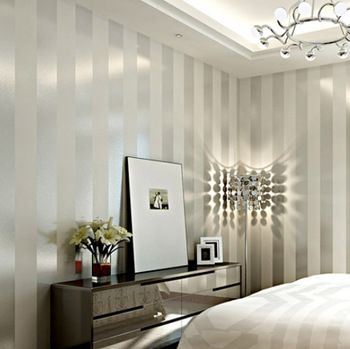 Buy Free Shipping! Simple wall paper stripe wallpaper study living room bedroom plain color wallpaper papel de parede 0.53m * 10m in Cheap Price on m.alibaba.com