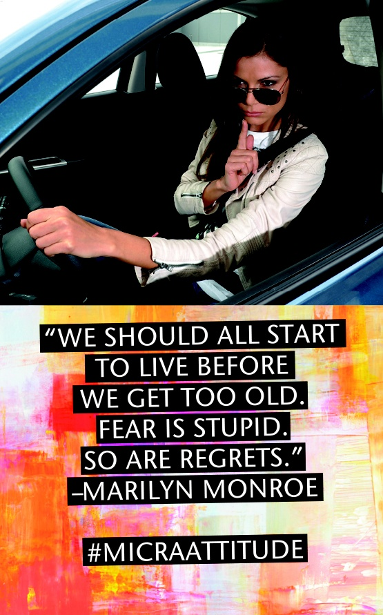 We should all start to live before to get too old... #MicraAttitude #Competition #Contest #Nissan #Micra #Car #Lifestyle #Woman #Women #Attitude #Quote #Caption #Style #Confidence #Intelligence #Design #Technology