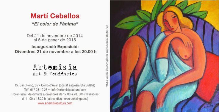 Exposición @ceballosart en @artemisia_lf del 21 de Noviembre de 2014 al 05 de Enero de 2015.  Calle Sant Ponç, 65 / Corró d'Avall - Les Franqueses del Vallès / BARCELONA @graficartprints #gicle #giclee #fineart #print #prints #expresionismo #fauvismo #marticeballos #art