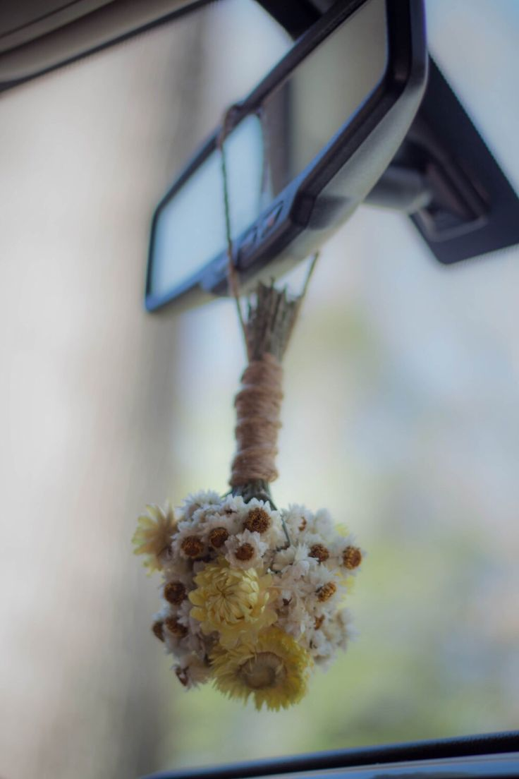Car interior hanging - Hanging Flowers Mini Bouquet Dried Flowers Bitty Blooms Cute Bridesmaid