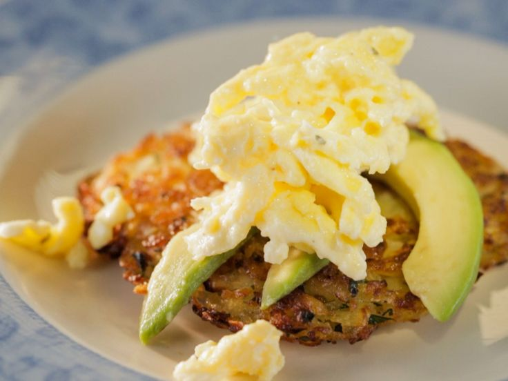 Hash Browns with Cheesy Eggs and Avocado recipe from Trisha Yearwood via Food Network (Season 7 -- All Things Cast Iron)