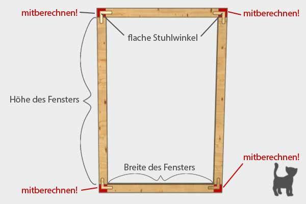 Schema für das Ausmessen des Holzrahmens