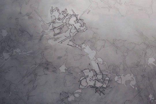 Meditation Drawings, 2009  graphite on drafting film by Melanie Pankau