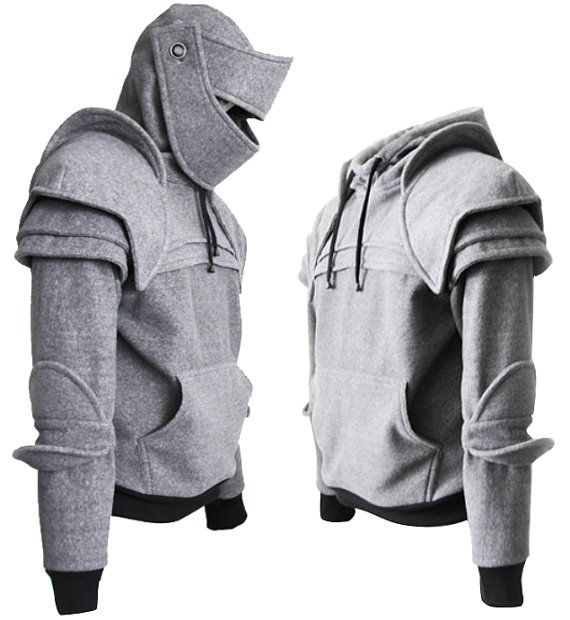 Hey, I found this really awesome Etsy listing at https://www.etsy.com/listing/150504396/knight-hoodie-hoodiegray-duncan-armored