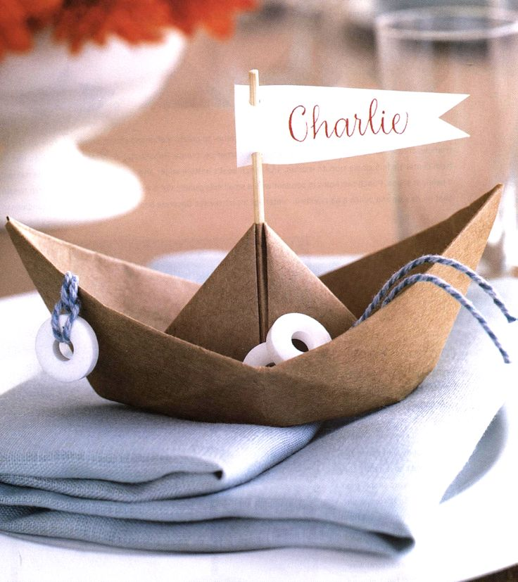 These place markers are an awesome conversation starter. Who has a nautical wedding coming up?