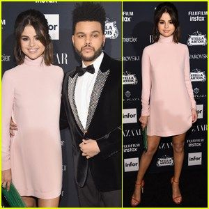 Selena Gomez & The Weeknd Make Rare Red Carpet Appearance at Harpers Bazaar Party