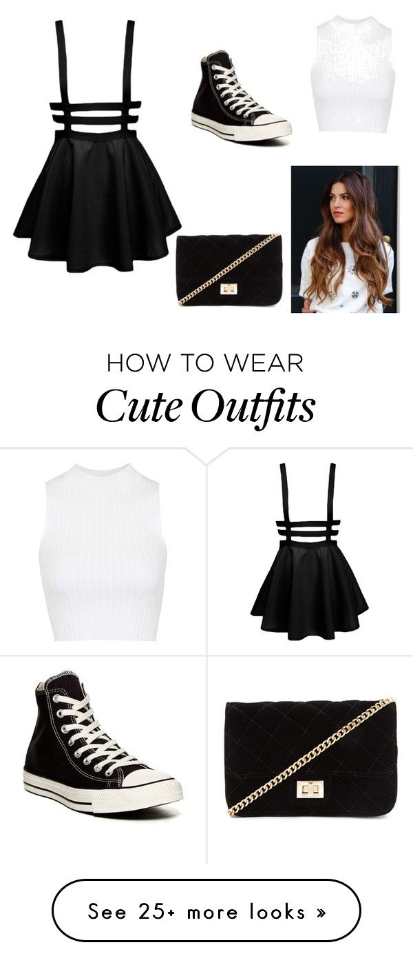 """""""Cute outfit"""" by cameronl100 on Polyvore featuring Topshop, Converse and Forever 21"""