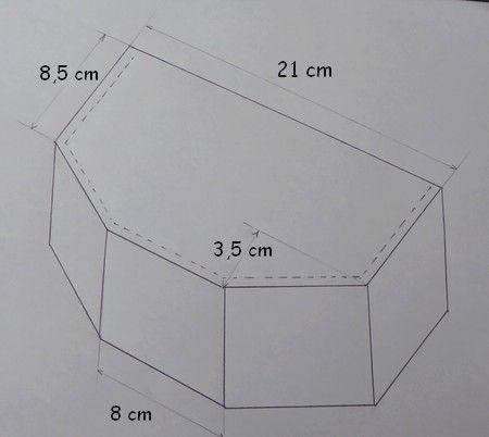 """Bonjour à tous !!! Quand j'avais vu chez Paule, ce coupon de tissu """"aux crayons"""", je l'avais trouvé fort marqué !!! Sa verticalité est finalement bien mise en valeur sur cette boîte en forme d'hexagone irrégulier ... C'est un montage de type livre pour..."""