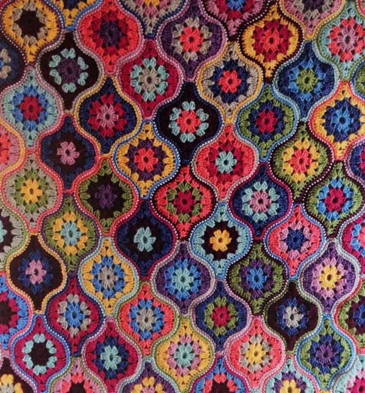 Jane Crowfoot Pattern (Life DK) - Crochet Mystical Lanterns Blanket