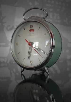 Five Rams Retro Alarm Clock