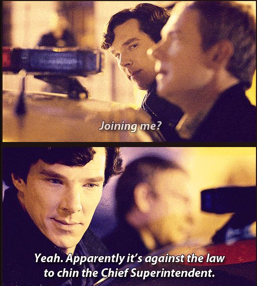 I just love the little half smile on Sherlock's face once he realizes what John has done.