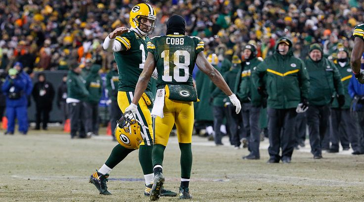 Aaron Rodgers and Randall Cobb connected five times for 116 yards and three touchdowns against the Giants in the 2016 NFL wildcard playoffs