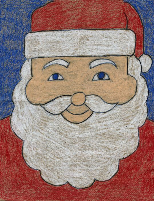Is Santa ready for his close up? If so, here's an easy way to draw him. Folding the paper twice will help students find the center of the paper and get them off to a good start. Ho, ho, ho, have fun! • View and download Santa Tutorial