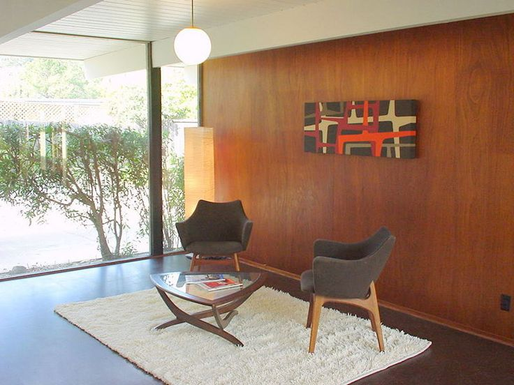 mahogany paneling eichler home mid century modern. Black Bedroom Furniture Sets. Home Design Ideas