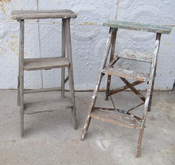 We have been finding cute little step ladders to accent your county decorating style. These little wooden gems would be wonderful on top of a table