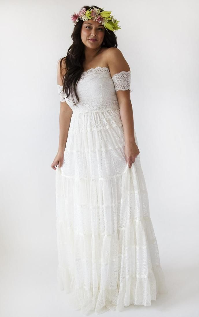 6 Vintage Hippie Wedding Dress Ideas and Plus Sizes for second ...
