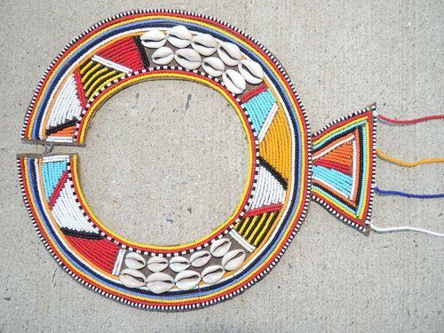 African Kenyan Tribal Masai Maasai Wedding Necklace with Shells | eBay
