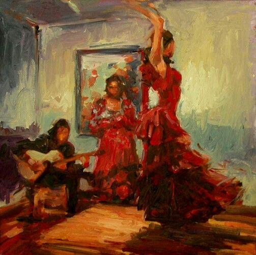 Red flamenco dresses