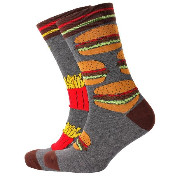 Men's Hamburger & Fries Odd Socks – Mitch Dowd