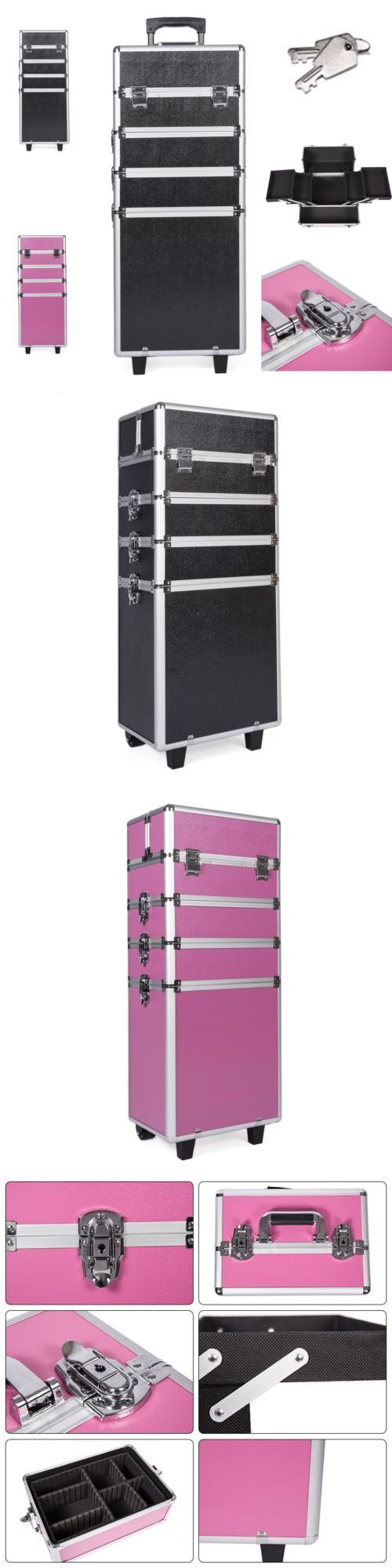 Rolling Makeup Cases: 4 In 1 Rolling Cosmetic Makeup Train Cases Trolley Beauty Artist Organizer Box -> BUY IT NOW ONLY: $79.89 on eBay!