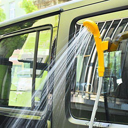DEDC Outdoor Doccia Portatile da Campeggio 12V Portable Auto Doccia Elettrica con Tubo Flessibile Arancia: Amazon.it: Sport e tempo libero