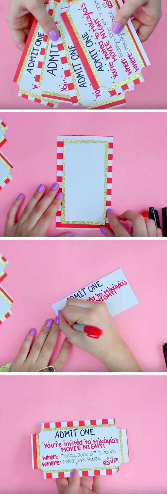 Movie Ticket | 19 DIY Movie Night Ideas for Teens that will get the party started!                                                                                                                                                                                 More