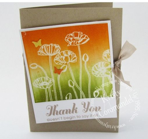 Pleasant Poppies, Lots of Thanks, video tutorial available