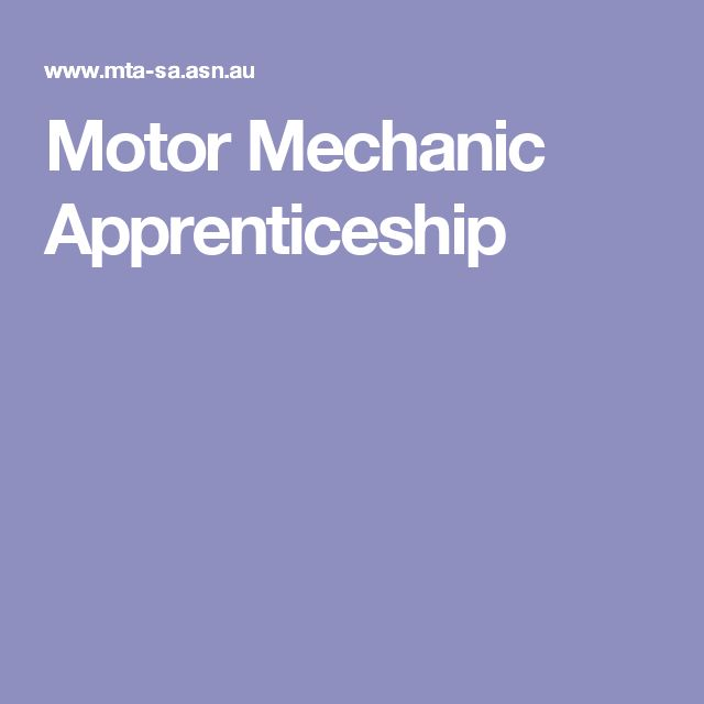 Motor Mechanic Apprenticeship