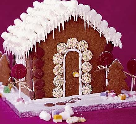 Here's a gingerbread recipe sure to delight youngsters and enchant adults alike; a genuine house of gingerbread