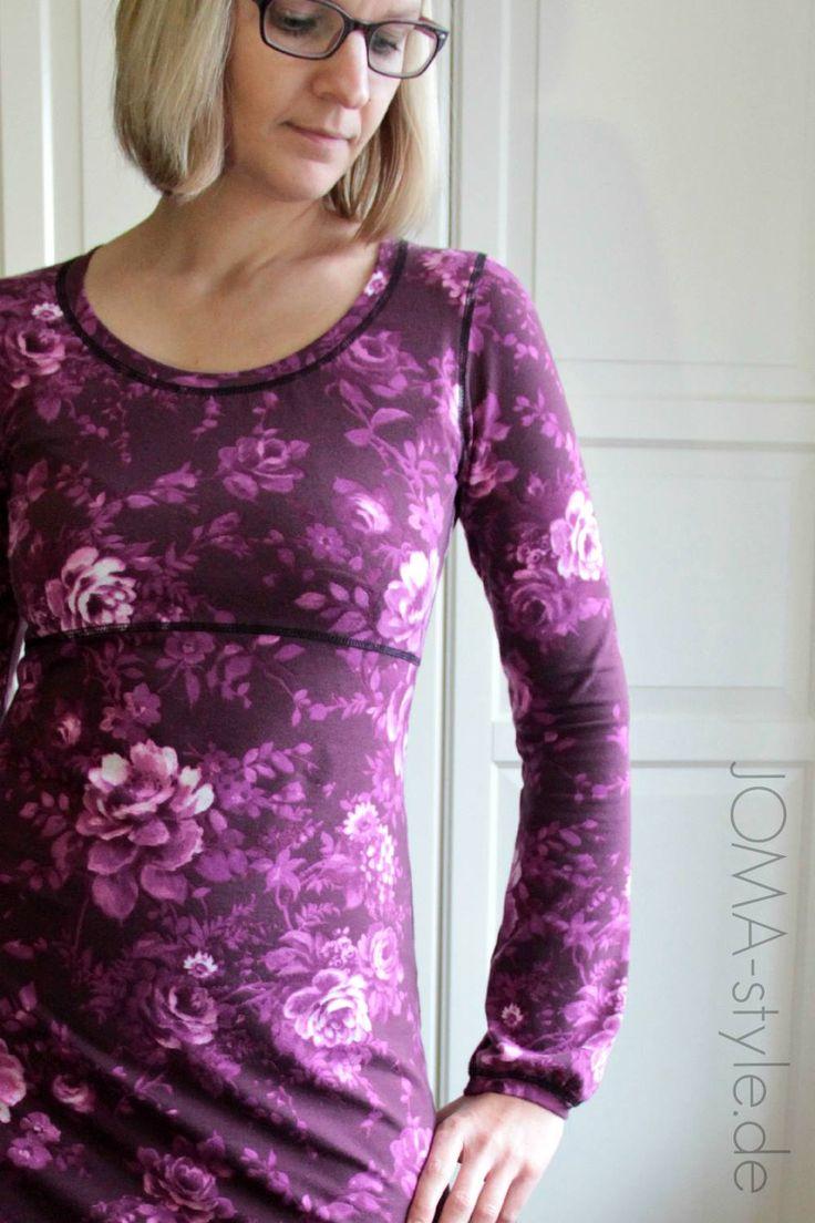 Nähbeispiel lillestoff Woman » Purple Rose « // Nähbeispiel: JOMAstyle
