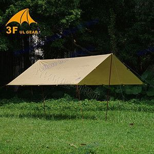 Anti UV ultralight 3F UL Gear 4*3m 210T silver coating outdoor large tarp shelter high quality beach awning sun shelter tent