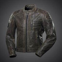 4SR Retro Leather Motorcycle Jacket