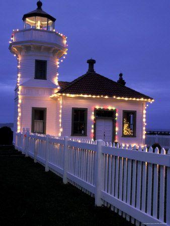 Lighthouse Christmas Lights