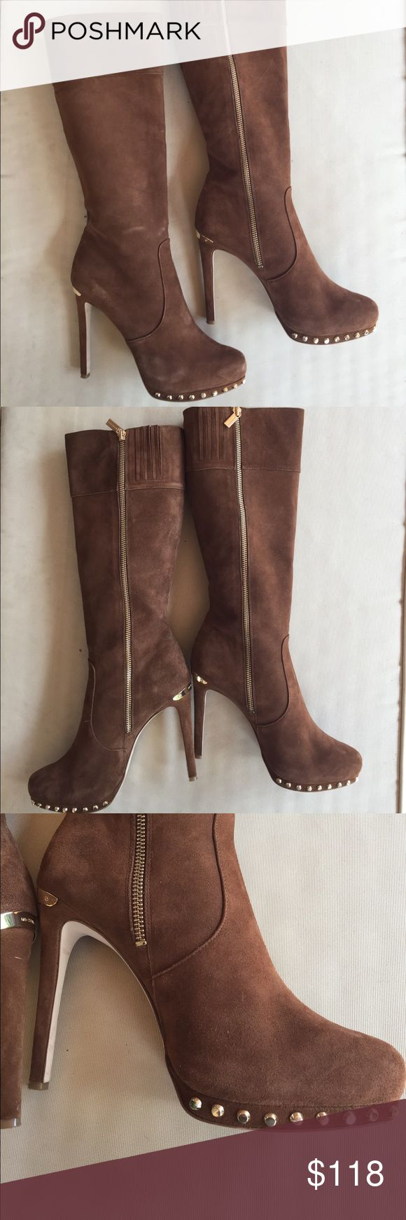 Micheal Kors Brown Suede Boots -- VERY SEXY! Micheal Kors Brown Suede Boots -- VERY SEXY! Michael Kors Shoes Heeled Boots