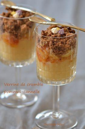 Verrine de crumble pommes-cannelle : la recette facile