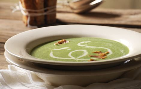 Skipper Skræk var vild med spinat! Så mon ikke også denne grønne, cremede suppe var lige noget for ham.
