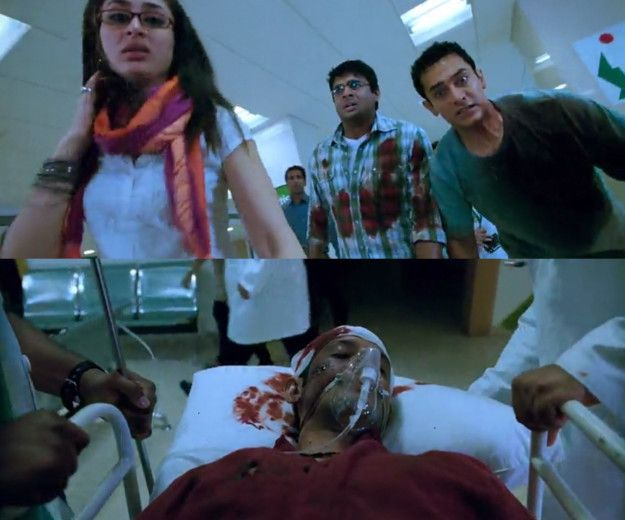 When, in 3 Idiots, Rancho and Farhan saved Raju after his suicide attempt, and…